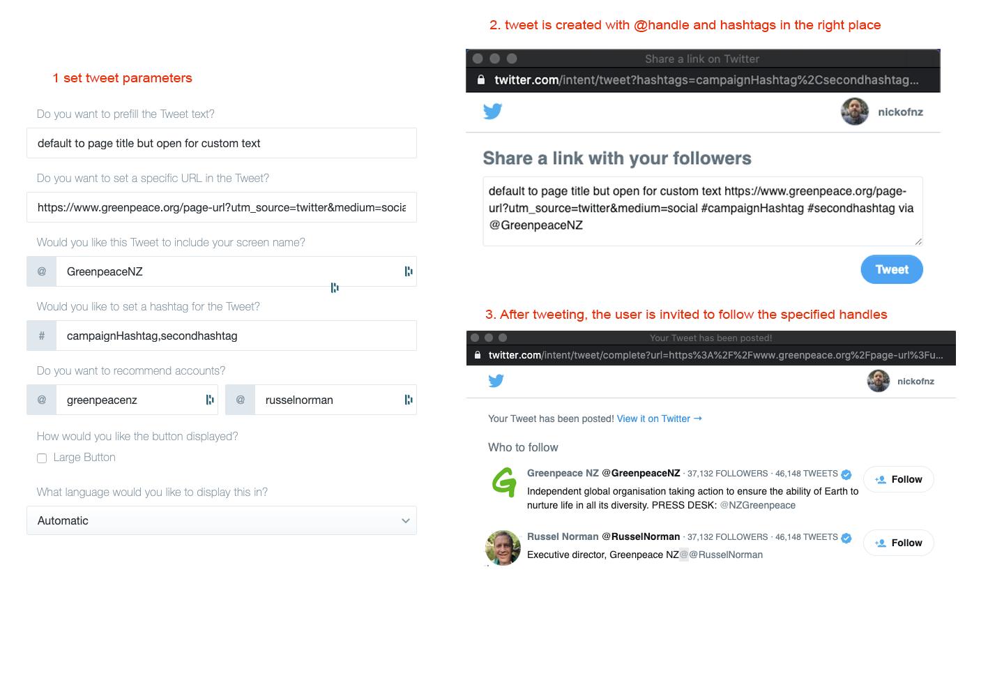 "Upgrade ""tweet share"" to twitter standards"