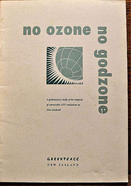 March 1993 Greenpeace publishes the 'No Ozone, No Godzone' report on the impacts of increasing UV radiation in New Zealand