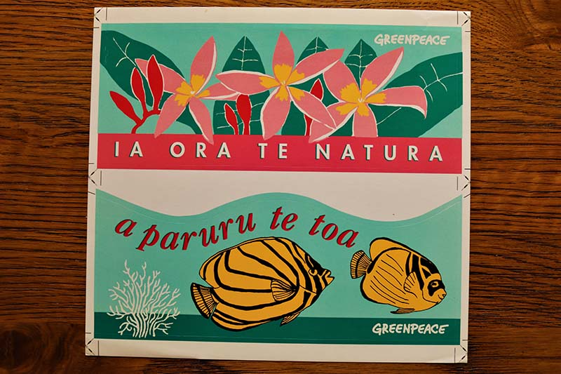Stickers produced for the SV Redbill tour of Te Ao Maohi-French Polynesia