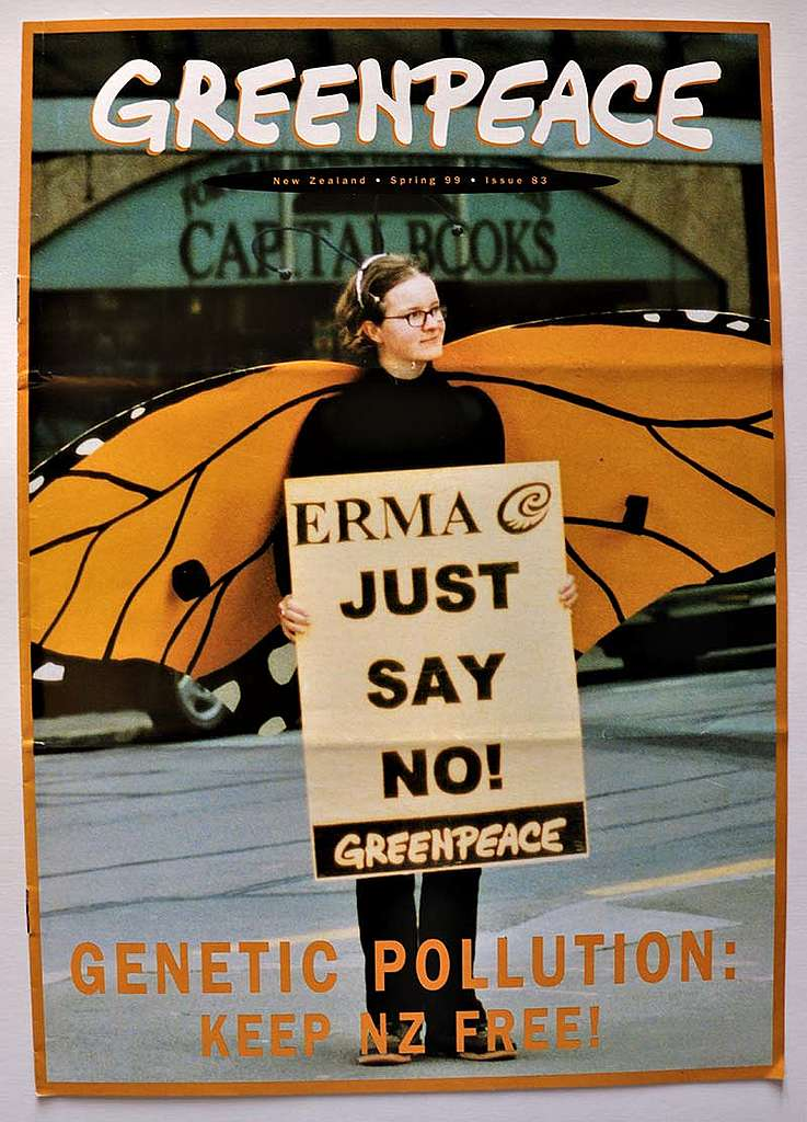 August 1999 Greenpeace presents evidence to an ERMA hearing linking an insect resistant strain of GE maize with damaging effects on Monarch Butterflies via its pollen