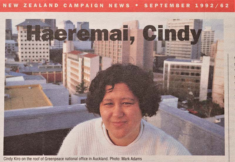 July 1992 Greenpeace New Zealand appoints Cindy Kiro as its first Executive Director_Photo by Mark Adams