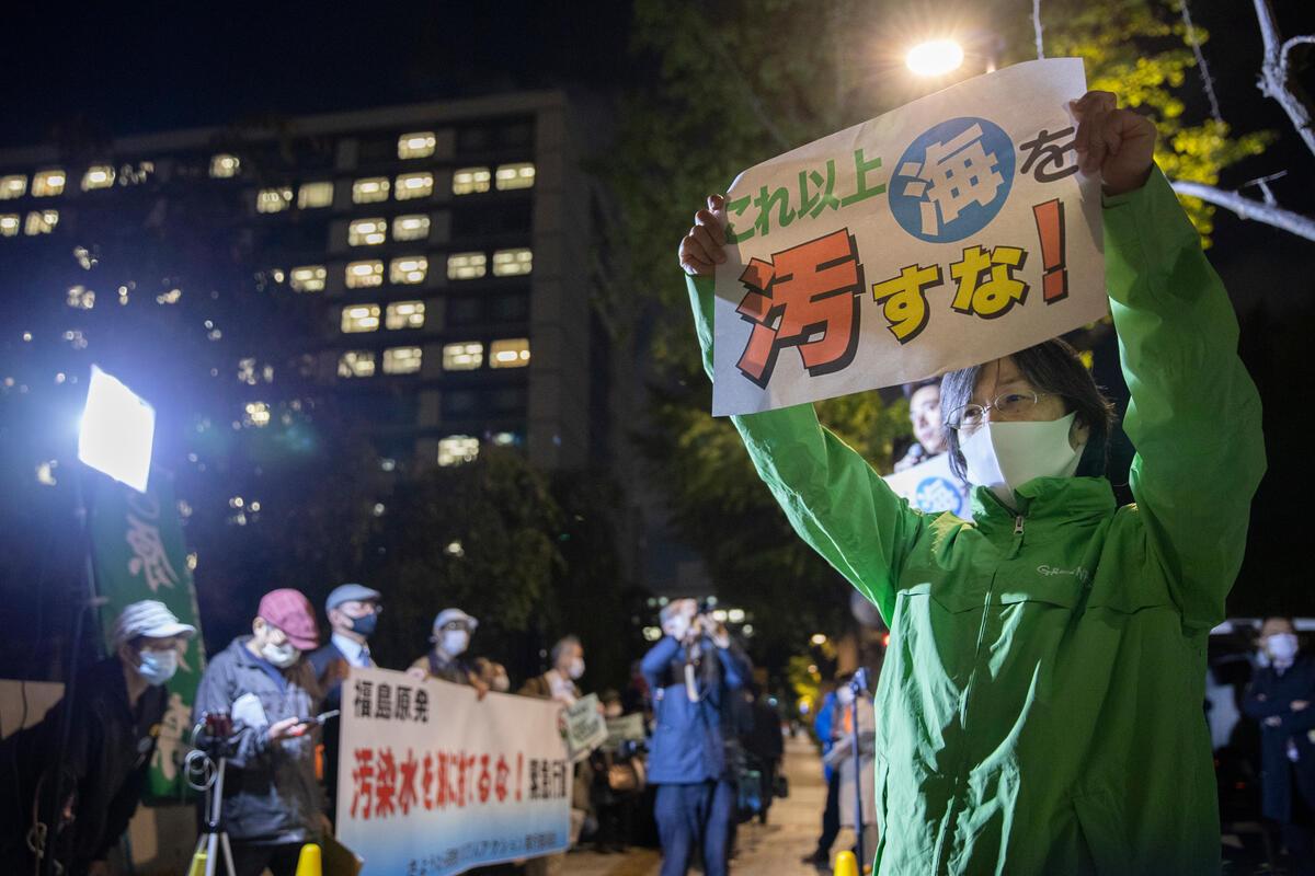 綠色和平日本辦公室10月與居民關注組發起遊行,反對日本政府建議將最少123萬噸福島核污水排出太平洋。 © Masaya Noda / Greenpeace