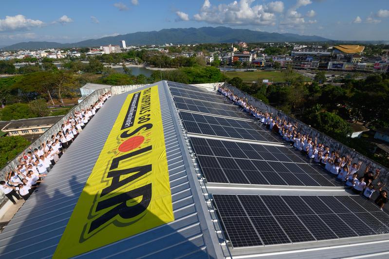 建置太陽能板能減輕醫院開銷的負擔,更是支持能源轉型的實質行動。© Greenpeace