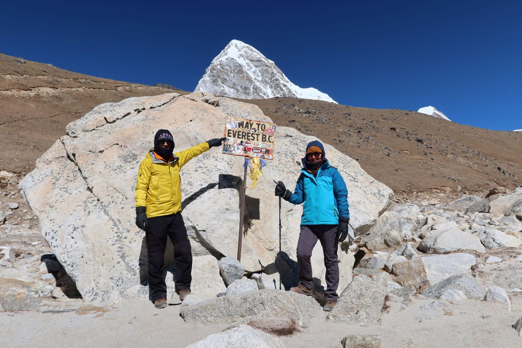綠色和平特派員自費前往珠峰基地營,觀察氣候變遷如何影響「第三極」喜馬拉雅山脈區域。 © Greenpeace