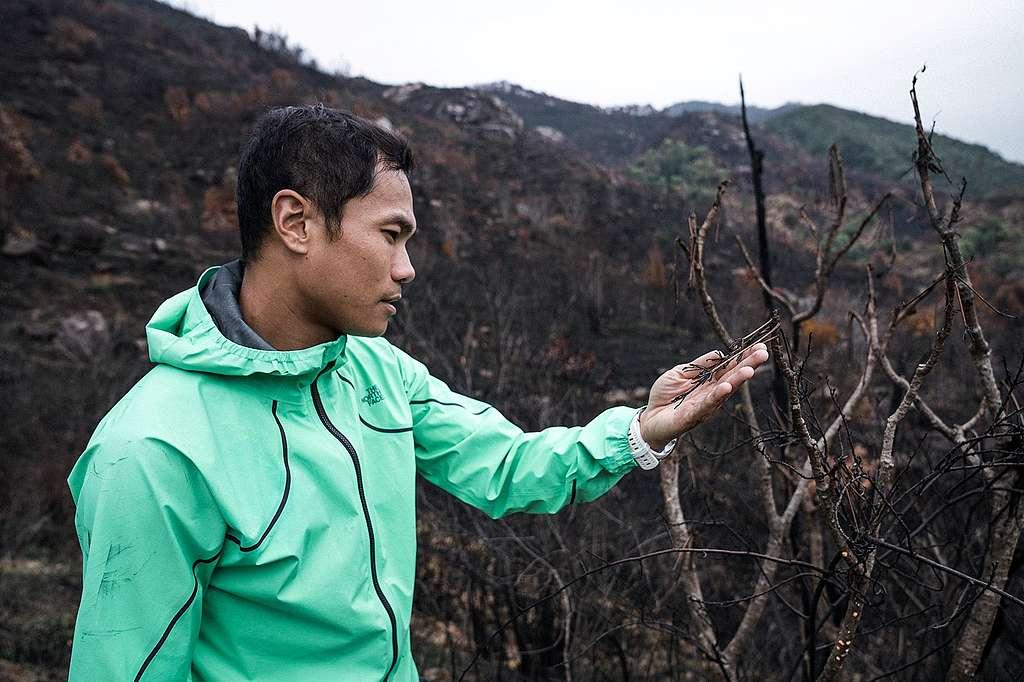 香港山系強人黃浩聰,同時是一名消防員。©Patrick Cho/Greenpeace
