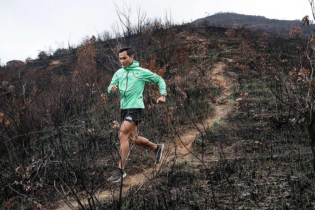 黃浩聰他的雙腳踏遍四大極地,跑過大山大嶺,體驗過大自然的震撼。©Patrick Cho/Greenpeace