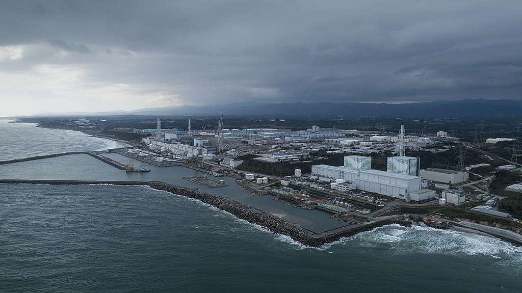 福島第一核電廠目前儲存過百萬噸核污水,當局為節省成本,竟有意把核污水排入太平洋。 © Christian Åslund / Greenpeace