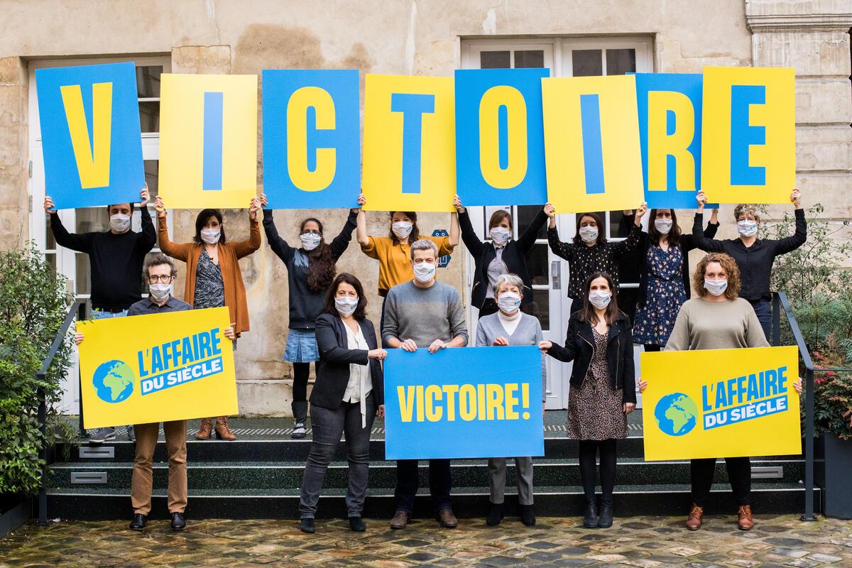 這獲稱為「世紀訴訟」最後報捷,有賴背後230萬人聯署支持氣候訴訟,這也是法國史上最多人參與的線上聯署。© Greenpeace
