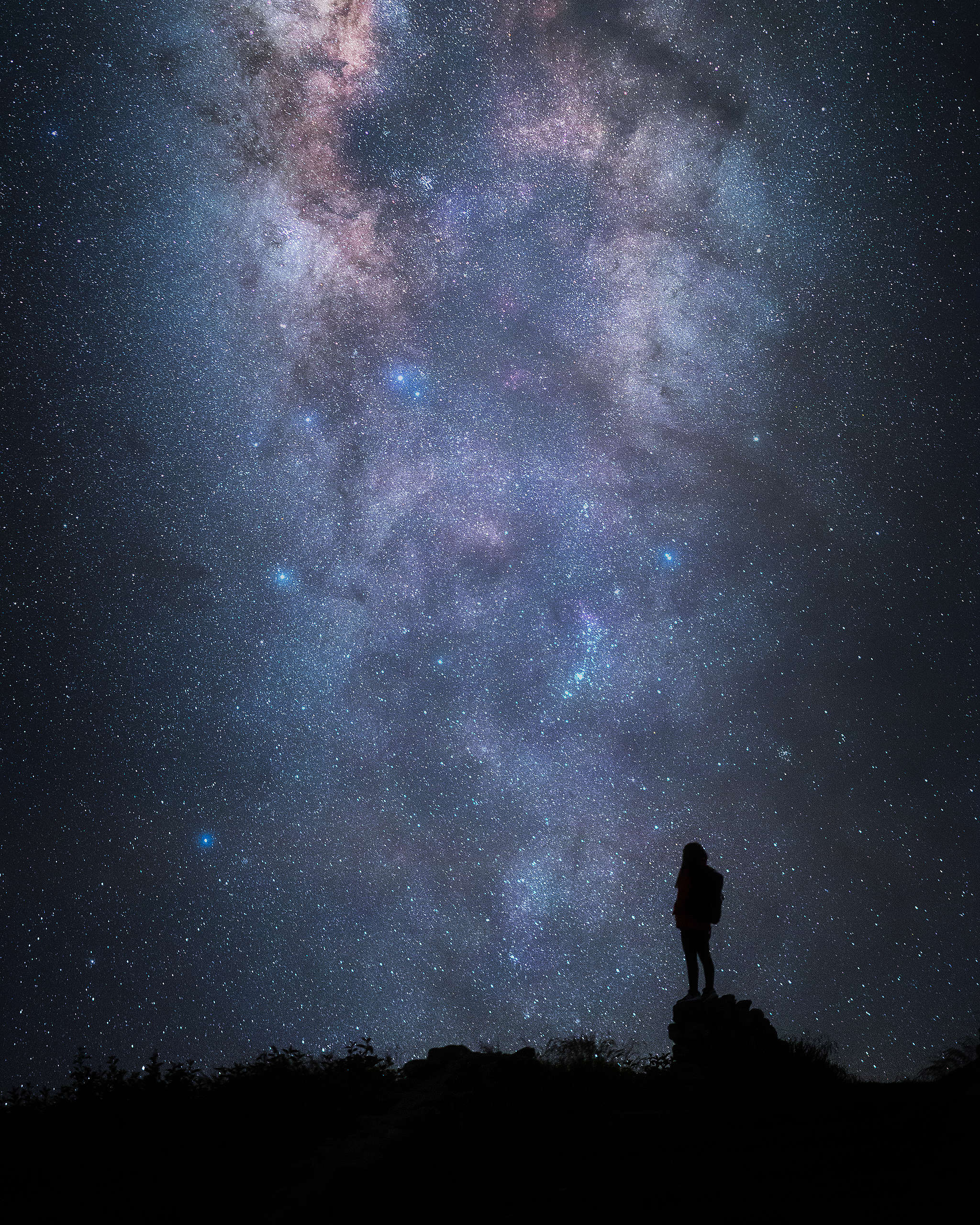 銀河核心部份。(8s F1.4 ISO2000)© Kelvin Yuen