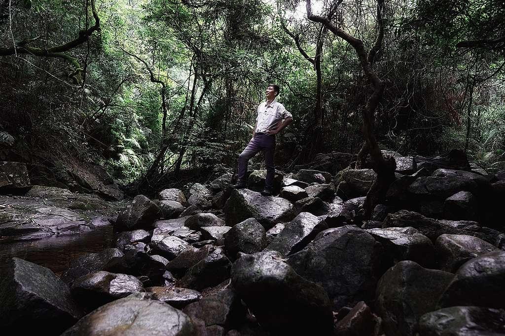 馬昀祺Xoni 希望大家從認識、感受大自然開始,由愛生出行動守護環境,讓香港的生物多樣性欣欣向榮。© Kim Leung / Greenpeace