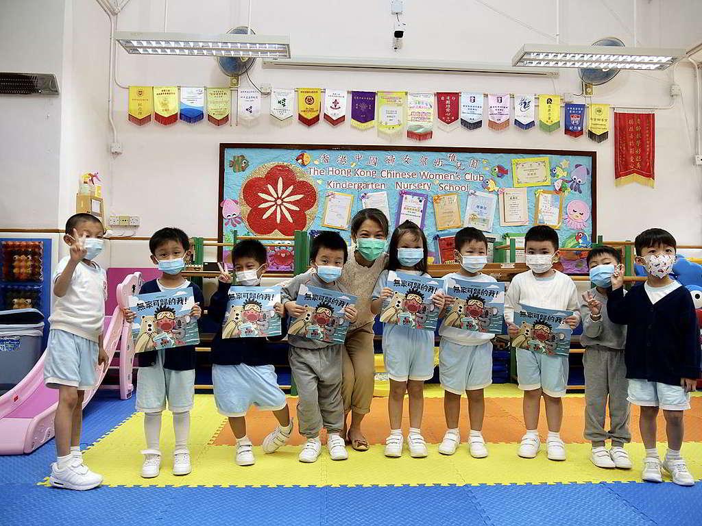 廖校長期望社會各界配合推動環保,與環境教育相輔相成。 © Greenpeace