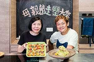 邀請梁祖堯幫忙調教一眾參與者炮走塑大餐的秘訣。© Greenpeace