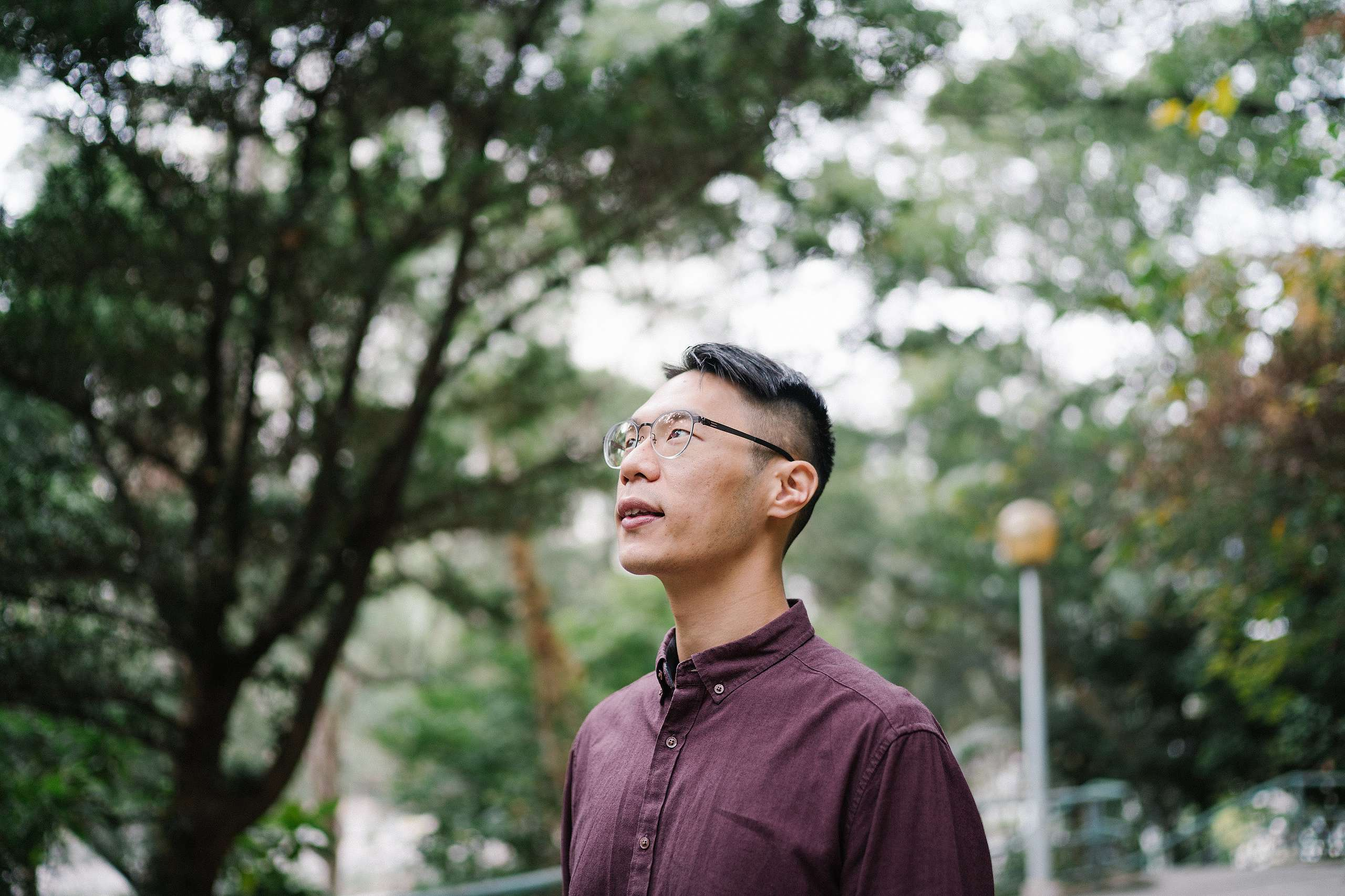 Billy分享自己的太陽能經驗,是希望大家領會可再生能源並不是遙遠的議題,而是可以接觸到、做到的。© Patrick Cho / Greenpeace