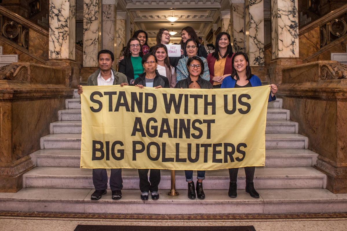 2018年9月,菲律賓人權委員會(CHR)於紐約市律師公會舉行聽證會,就各大化石燃料企業導致氣候變化而違反人權展開調查。 © Tracie Williams / Greenpeace