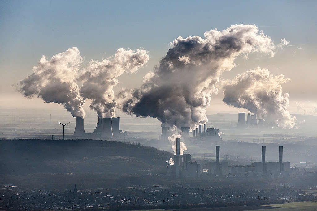 Aerial of Coal Fired Power Plants in Germany. © Bernd Lauter