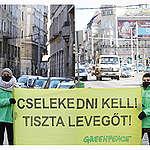 A Greenpeace cselekvést, együttműködést vár a kormánytól és a fővárostól a magyarok egészsége érdekében