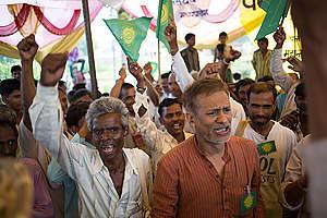 Public Meeting at Mahan in Madhya Pradesh. © Vivek M.