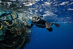 Ghosts Fishing Nets in the Great Pacific Garbage Patch. © Justin Hofman