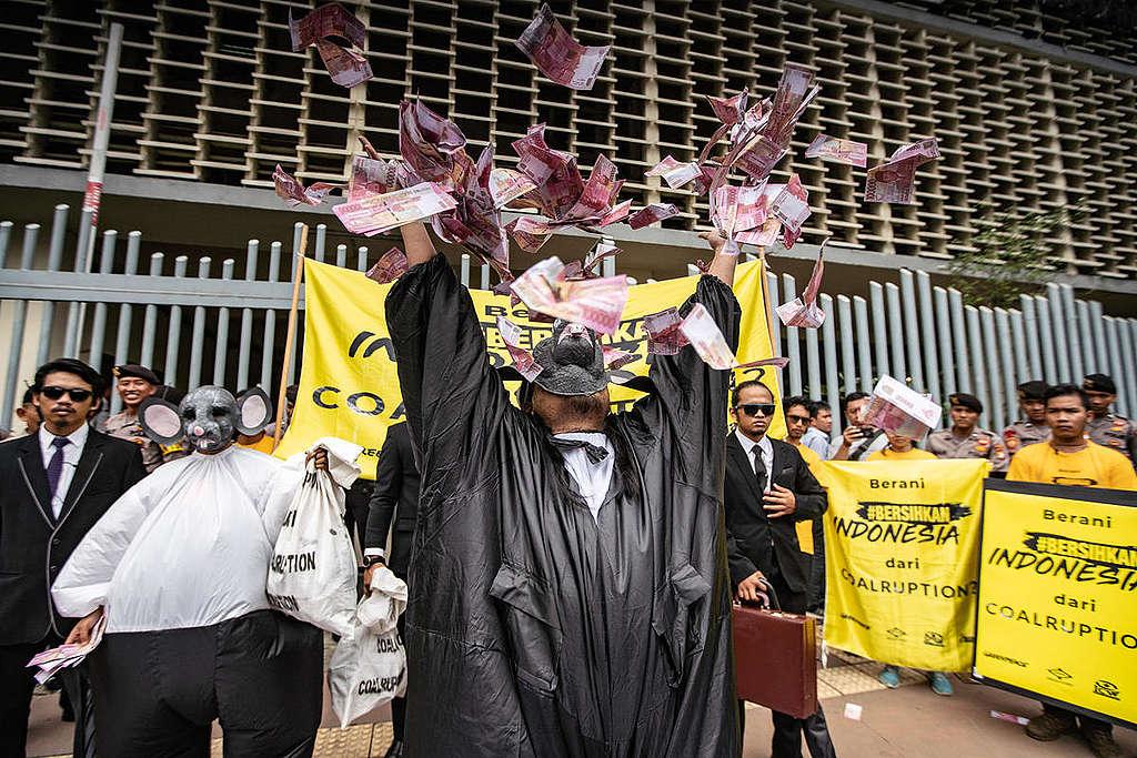 Coalruption Presidential Candidates Action in Jakarta. © Jurnasyanto Sukarno