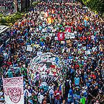 Plastic Monster Mass Rally in Jakarta. © Jurnasyanto Sukarno / Greenpeace