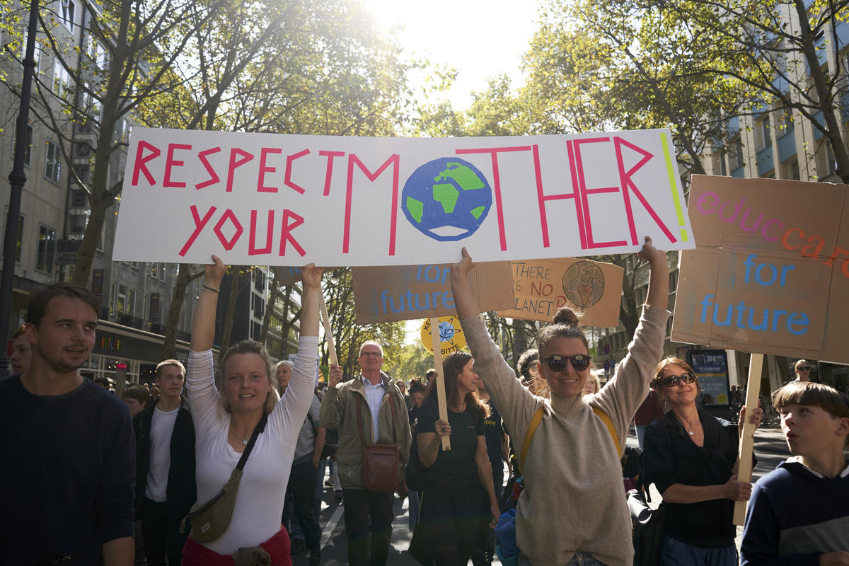 Global Climate Strike in Cologne. © Anne Barth / Greenpeace