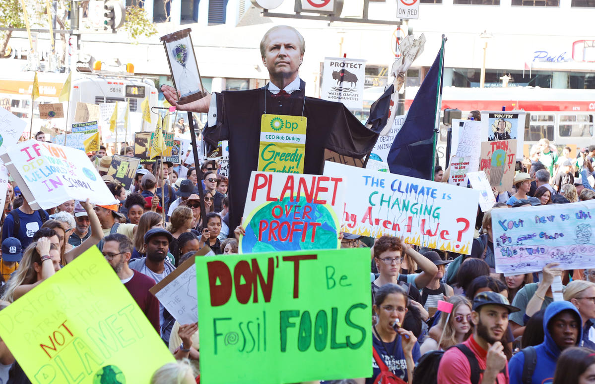 Global Climate Strike in San Francisco. © George Nikitin / Greenpeace