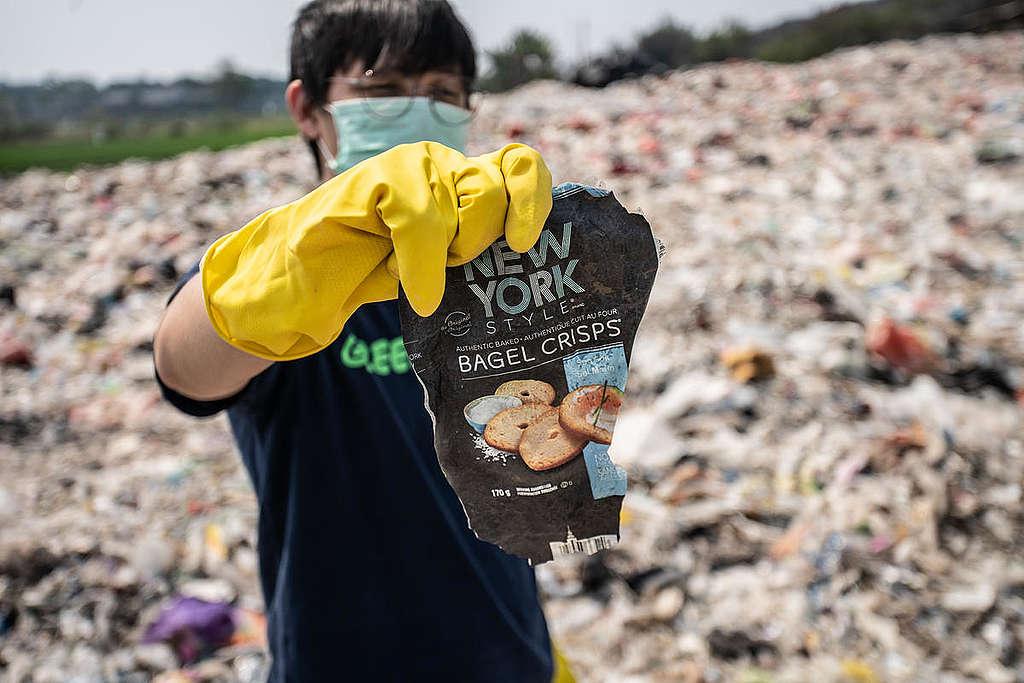 Imported Plastic Waste in Bekasi, West Java. © Jurnasyanto Sukarno / Greenpeace