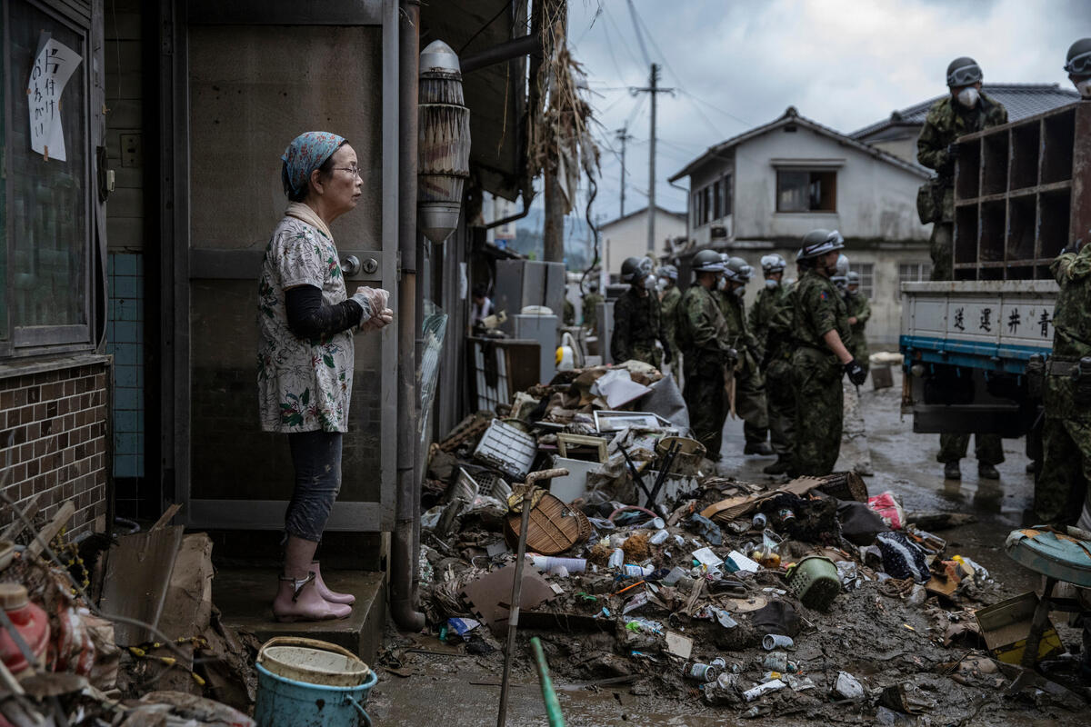 Heavy Rains Cause Destruction in Kyushu, Japan © Masaya Noda / Greenpeace