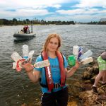 Greenpeace volunteers head from Sydney's Botany Bay up the Cooks River to pick up rubbish. The initiative is driven by the Sydney Greenpeace Local Group and takes place on the first Sunday of each month at various locations around Sydney.