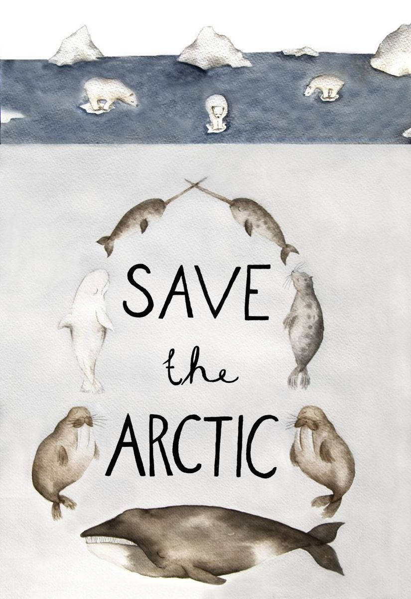 """""""Arctic Animals"""" by Lina Lofstrand, 28, Sweden © Greenpeace"""