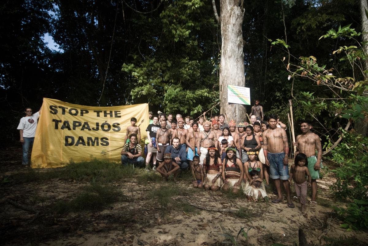 Munduruku and Greenpeace Demarcate Indigenous Lands in the Amazon © Anderson Barbosa / Greenpeace