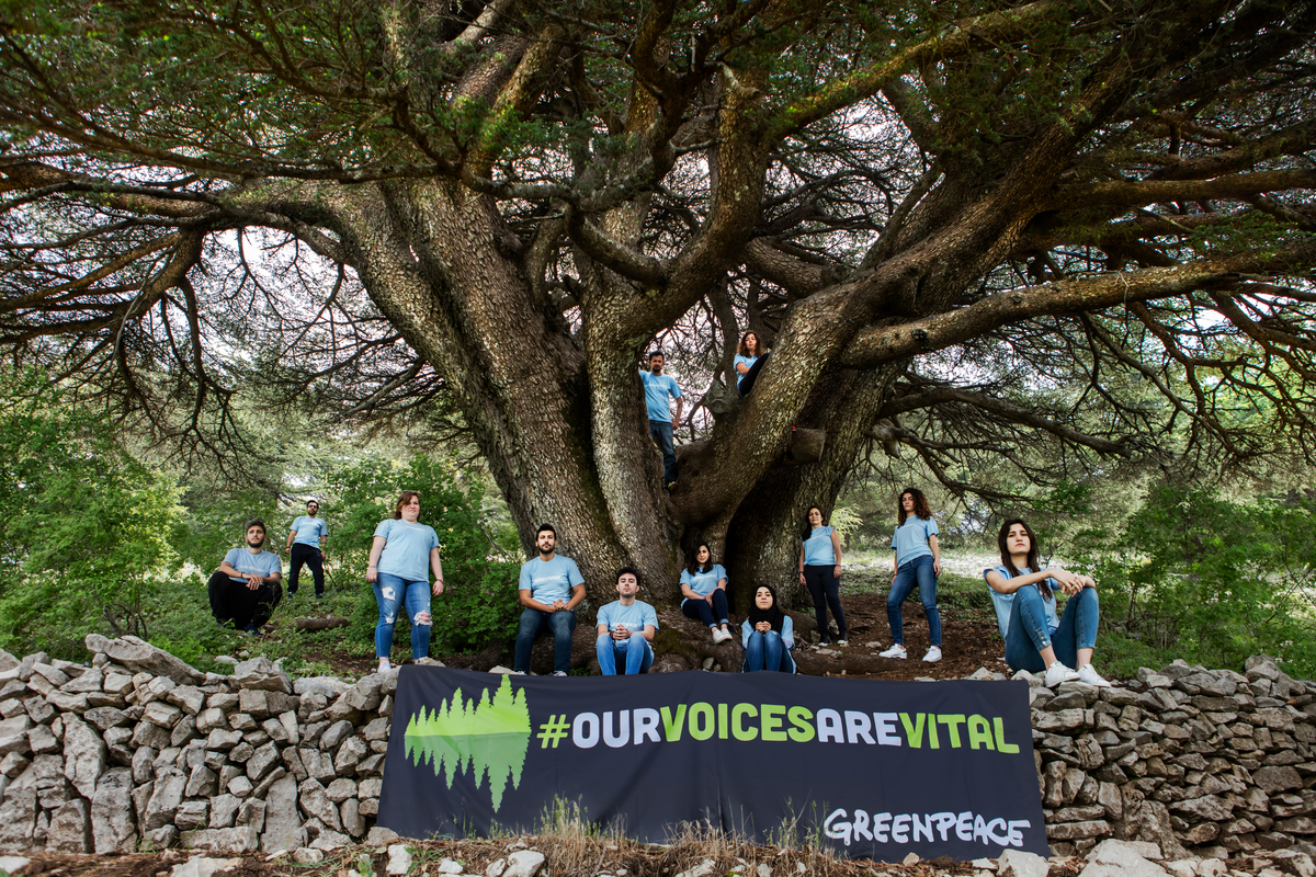 """""""Our Voices Are Vital"""" Activity in Lebanon © Charbel Bouez / Greenpeace"""