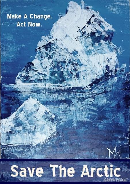 Arctic poster competition entrant. 2016 © Marijke Wehrmann / Greenpeace