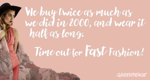 Time out for fast fashion illustration ©Greenpeace
