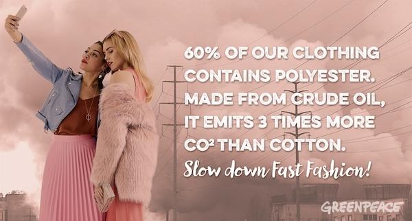 Fast Fashion waste (illustration) © Greenpeace