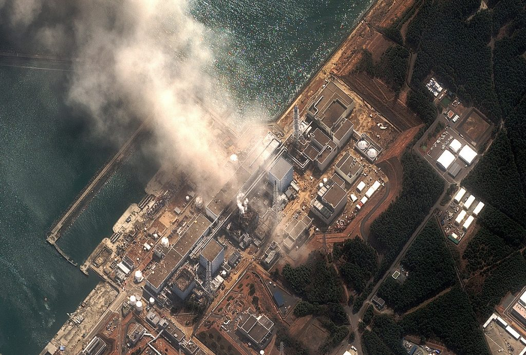 Fukushima I Nuclear Power Plant Damage. © DigitalGlobe