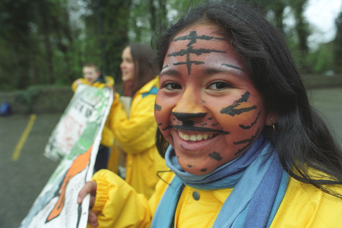 Kids for Forests Protest at CBD in The Hague © Greenpeace / Ruud Gort