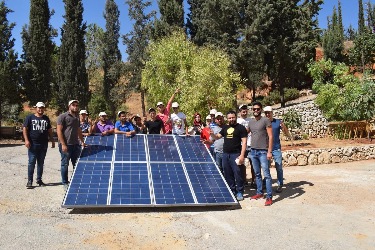 Solar Technicians' Training in Lebanon © Greenpeace