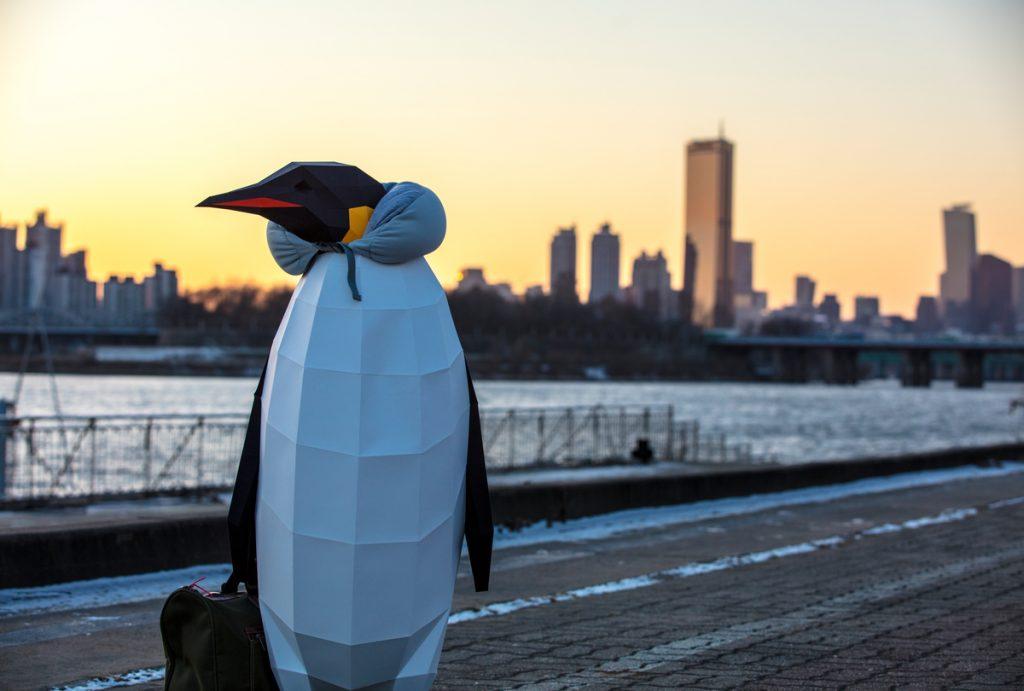 March of the Penguins in Seoul, Korea © David Jaemin Byun / Greenpeace