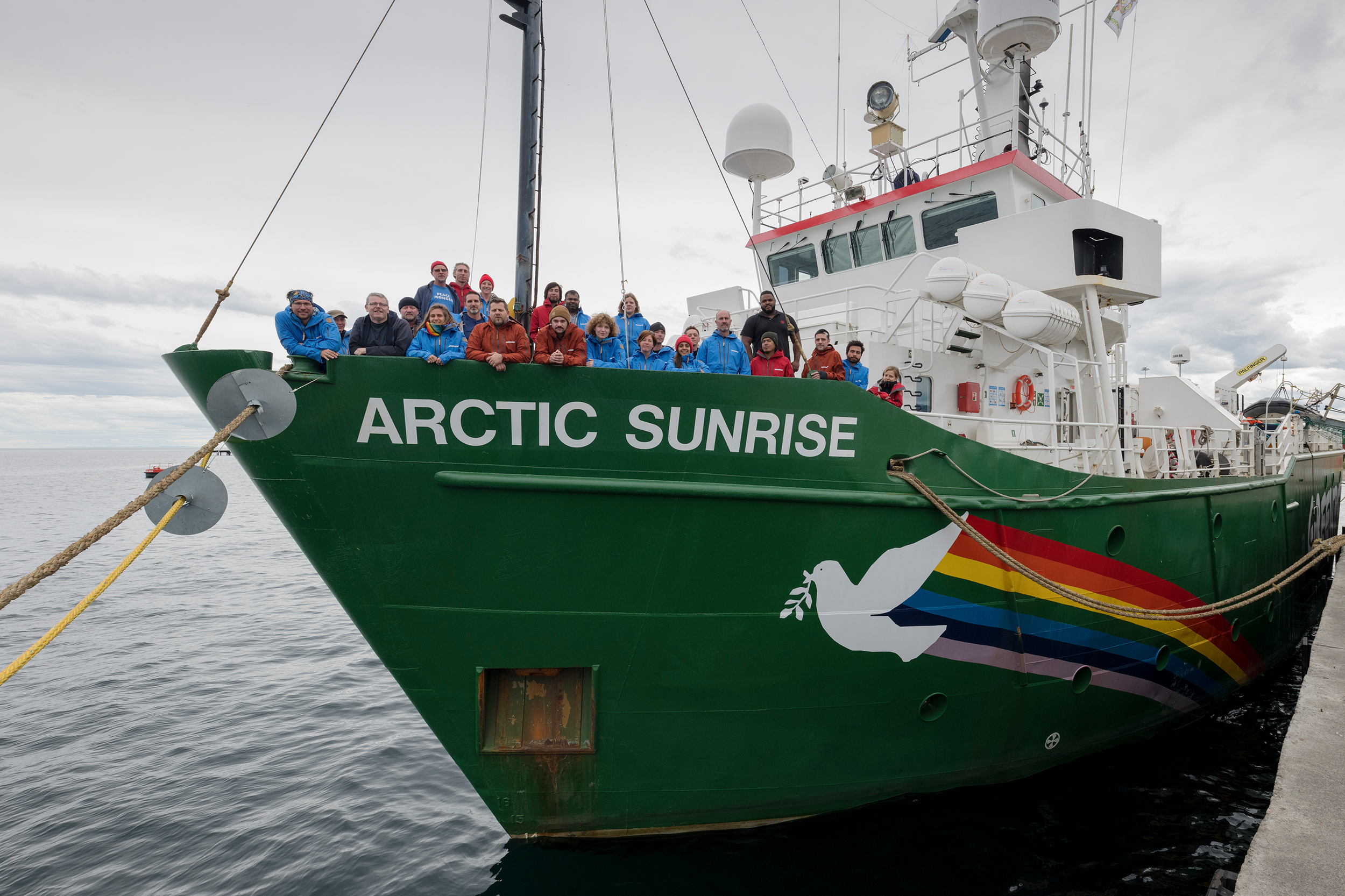 Arctic Sunrise and Crew in Chile © Christian Åslund / Greenpeace
