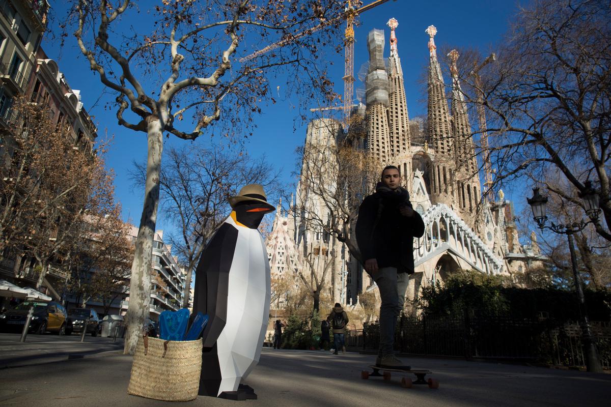 March of the Penguins in Barcelona © Ana Jimenez / Greenpeace