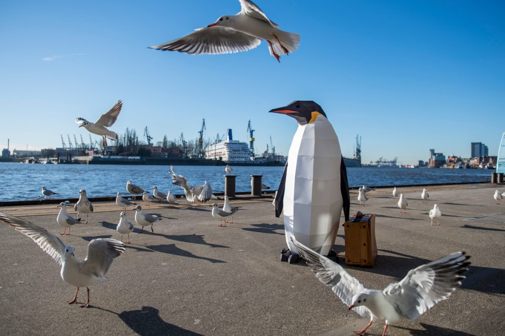 """March of the Penguins in Hamburg""""March of the Penguins"""" in Hamburg © Bente Stachowske / Greenpeace"""