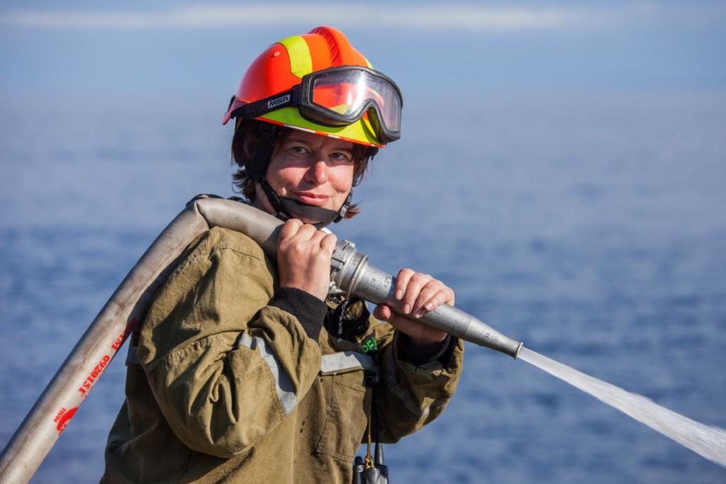 Anna Baskakova Firefighting and Training Camp in Russia © Maria Vasilieva / Greenpeace