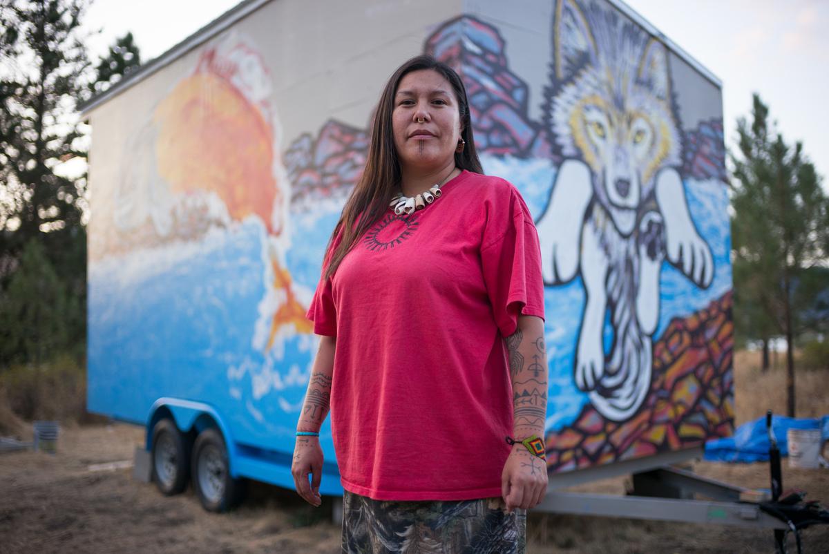 Kanahus Manuel, activist from the Tiny House Warriors in Canada © Ian Willms / Greenpeace