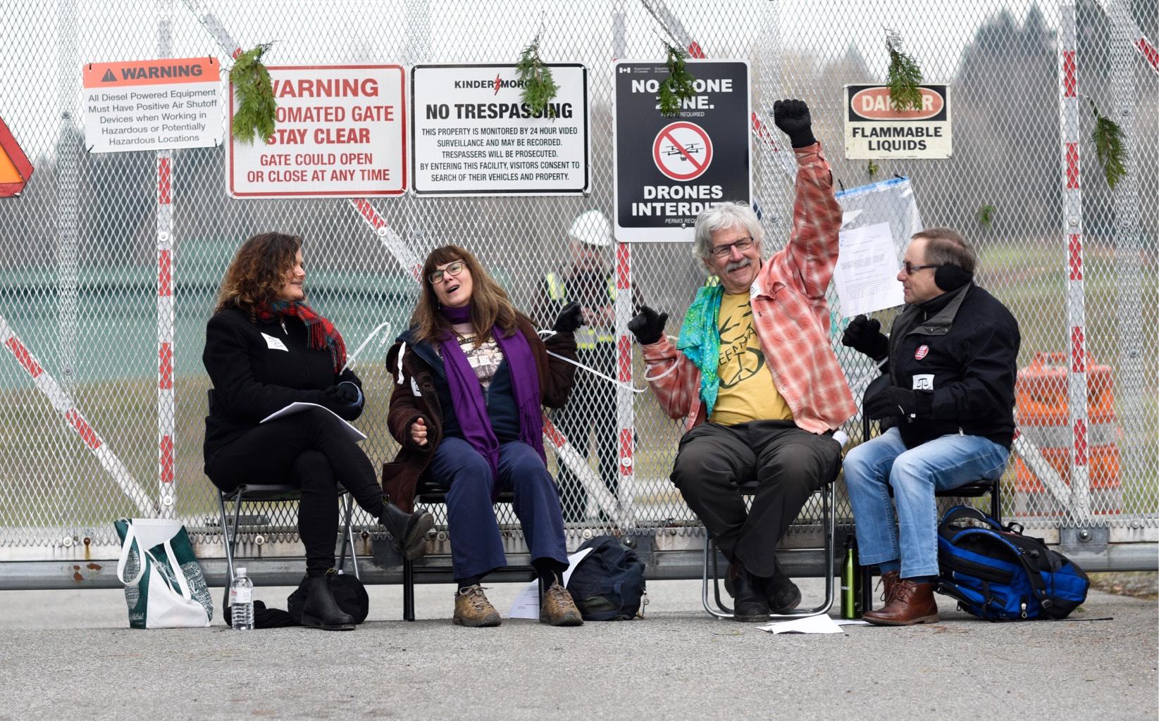 Kinder Morgan Activist and Blockade 19 March, 2018 © Rogue Collective