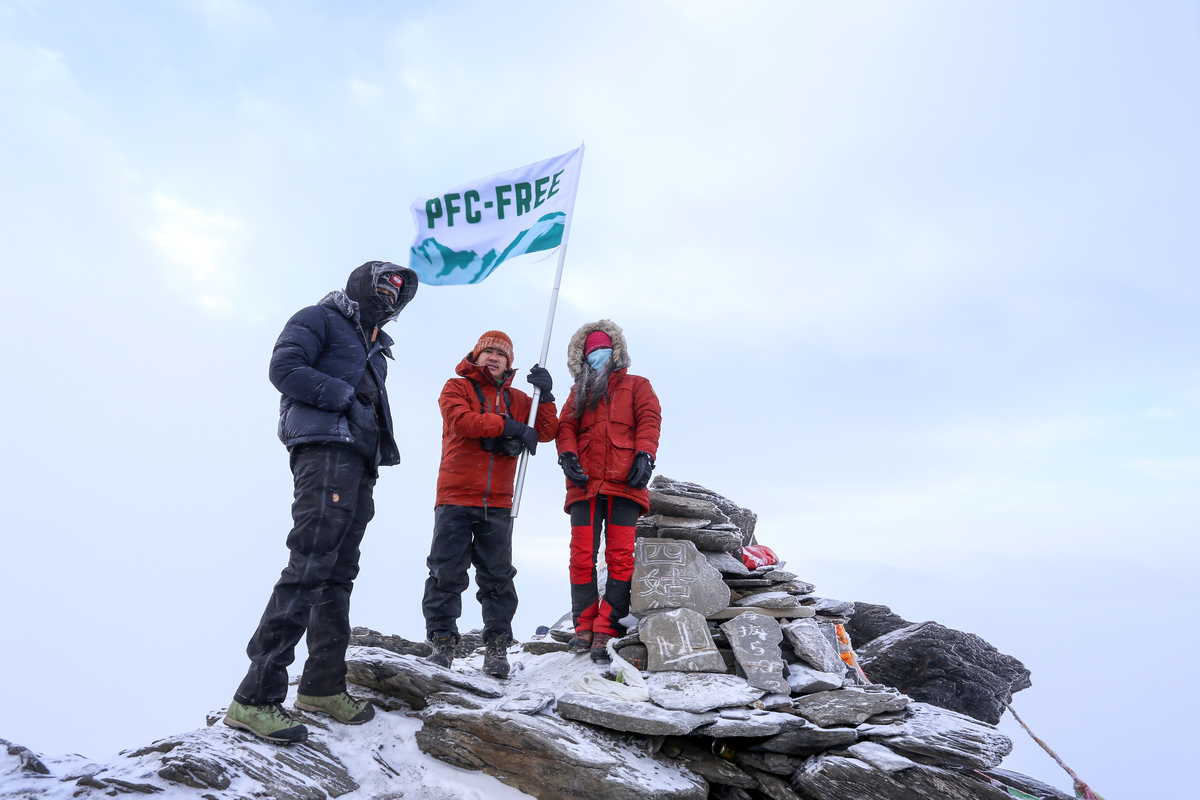 PFC-free Expedition in China © Vincent Chan / Greenpeace