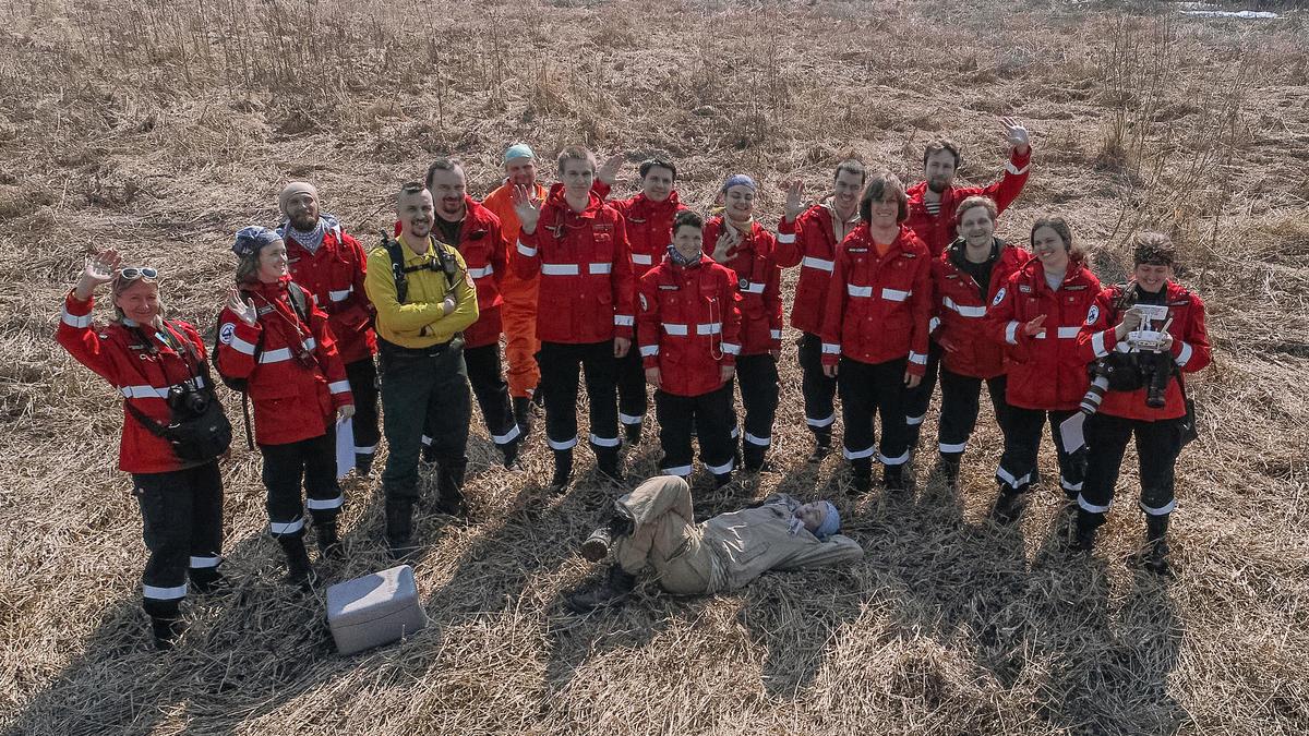 Volunteer firefighters training in Russia's Central region © Julia Petrenko / Greenpeace