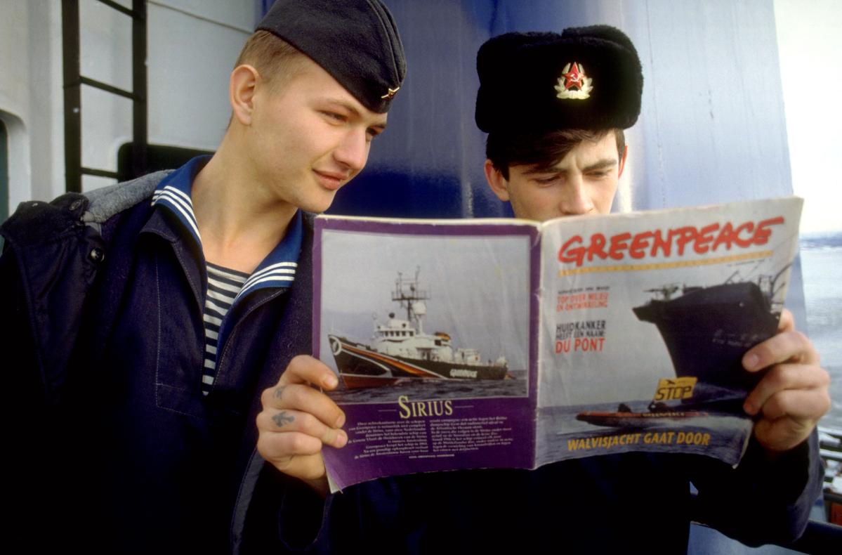 Solo Kara Sea Documentation (Russia : 1992) © Greenpeace / Martin Lueders