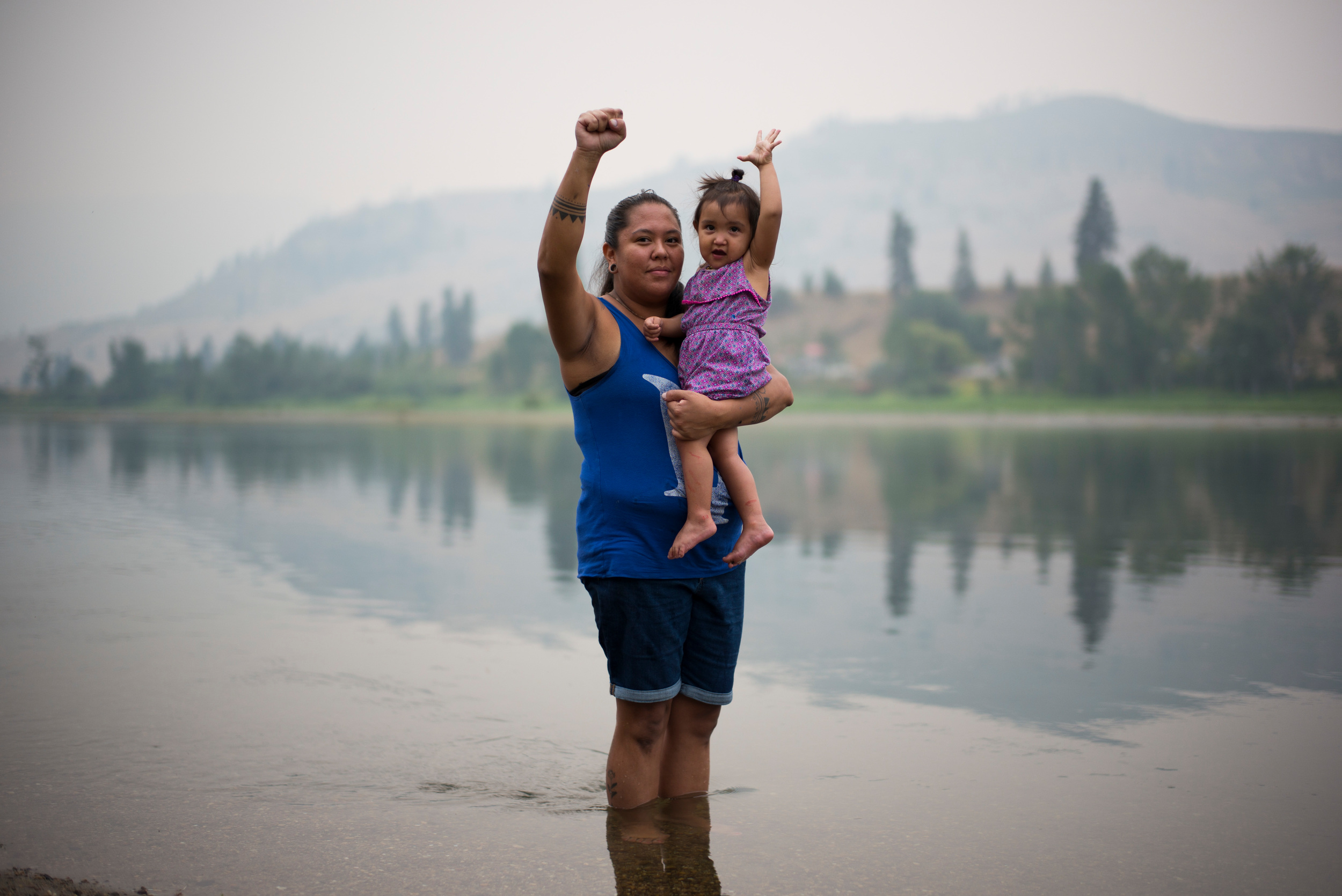 Activist from the Tiny House Warriors in Canada. © Ian Willms / Greenpeace