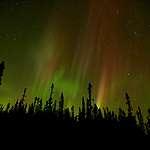 Northern Lights with illuminated sky © Markus Mauthe / Greenpeace